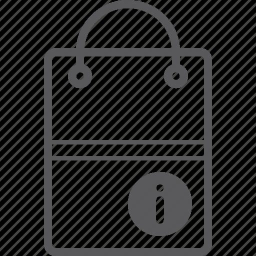 bag, info, shopping icon