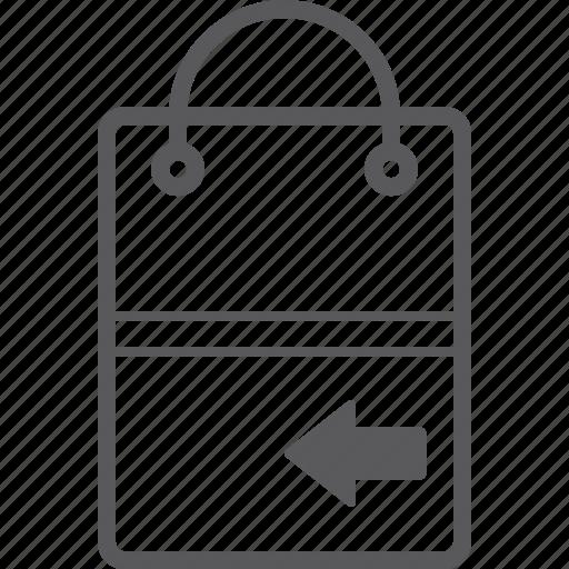 bag, left, shopping icon