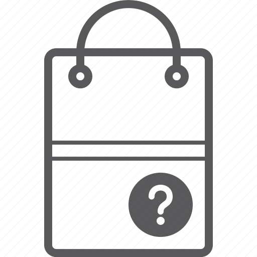 bag, question, shopping icon