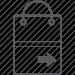 bag, right, shopping icon