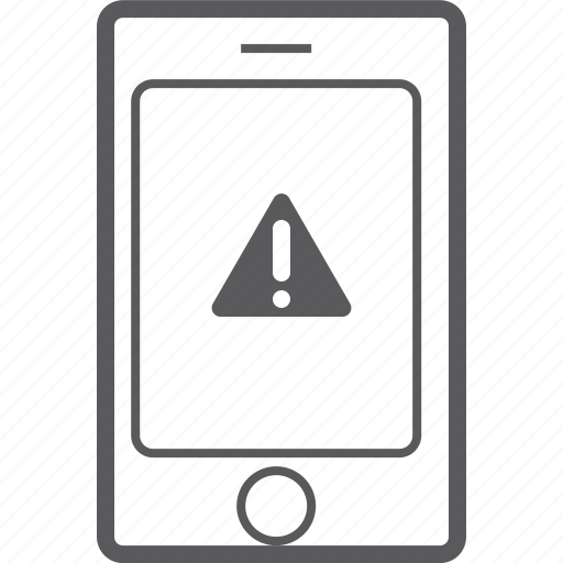 caution, phone, smart icon