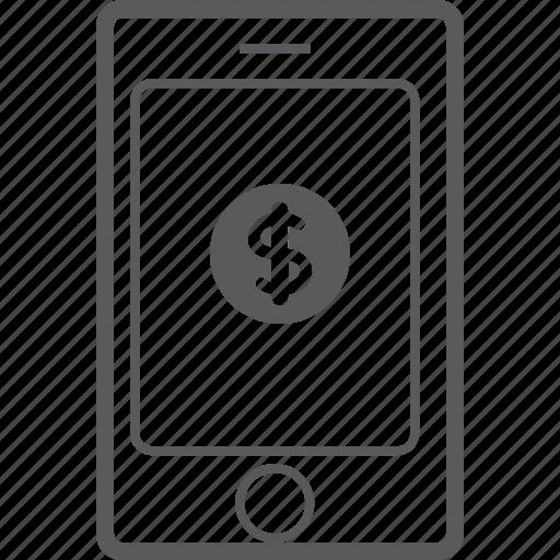dollar, phone, smart icon