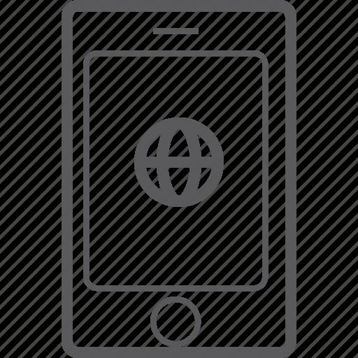 global, phone, smart icon