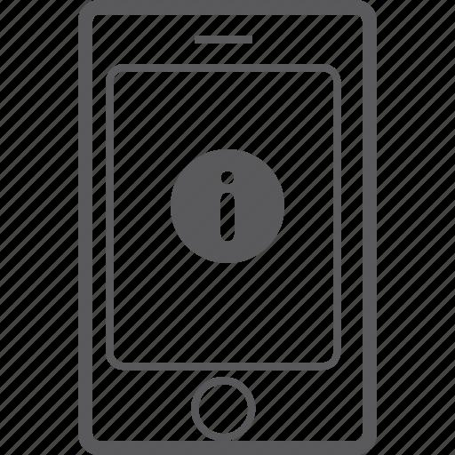 info, phone, smart icon