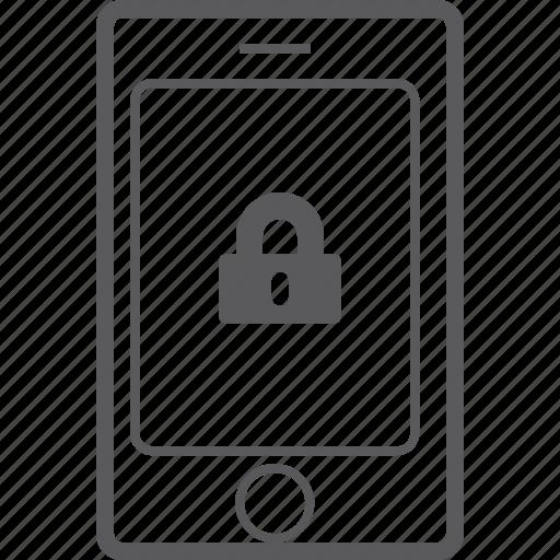 lock, phone, smart icon