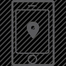 marker, phone, smart icon