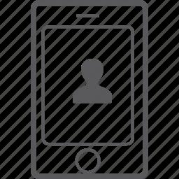 person, phone, smart icon
