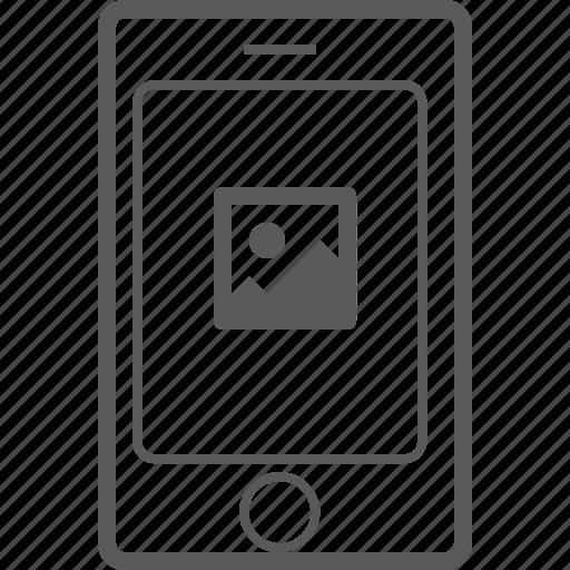 phone, picture, smart icon