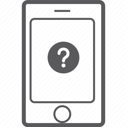 phone, question, smart icon