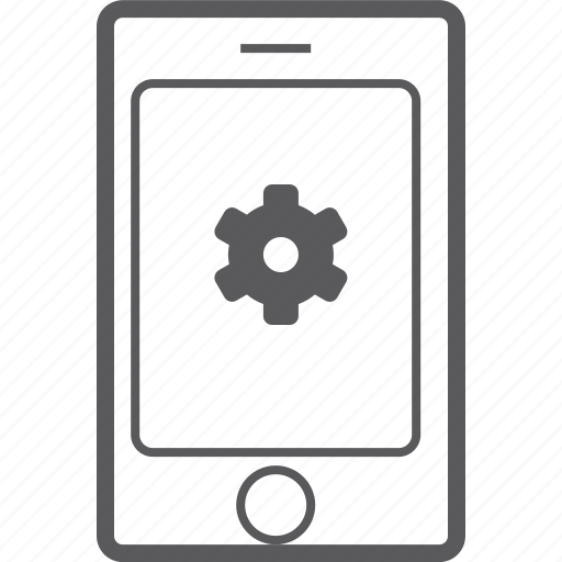 phone, setting, smart icon