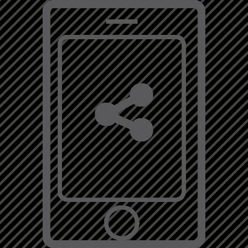 phone, share, smart icon
