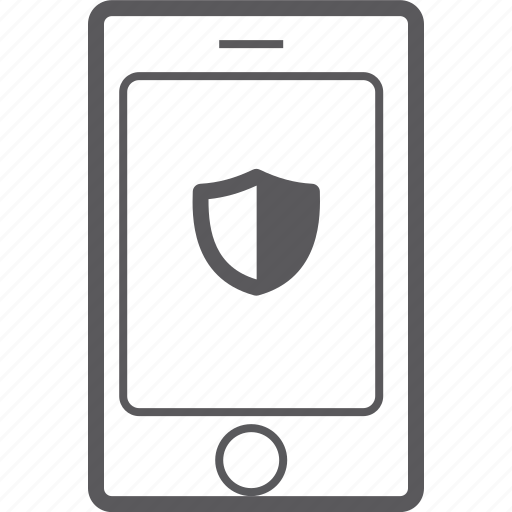 phone, shield, smart icon