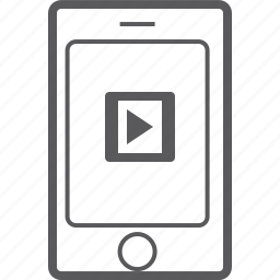 phone, player, smart, video icon