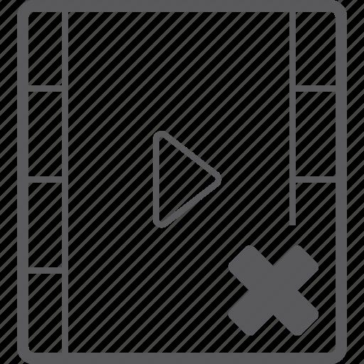 delete, player, video icon