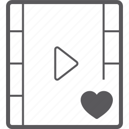 heart, player, video icon