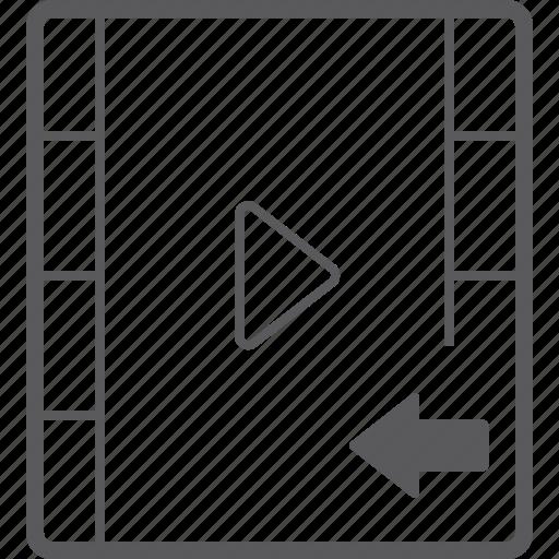 left, player, video icon
