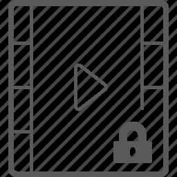 lock, player, video icon