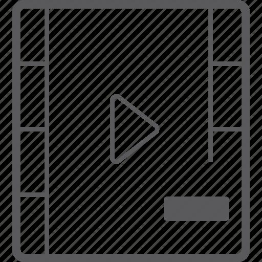 player, remove, video icon