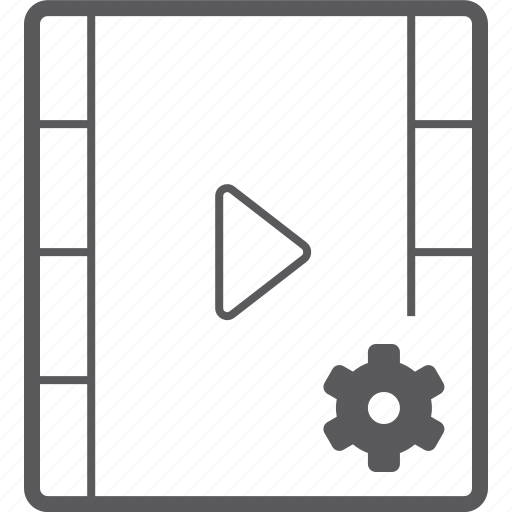 player, setting, video icon