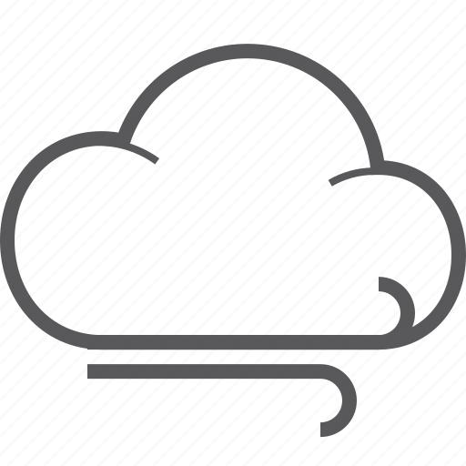 cloud, weather, wind icon