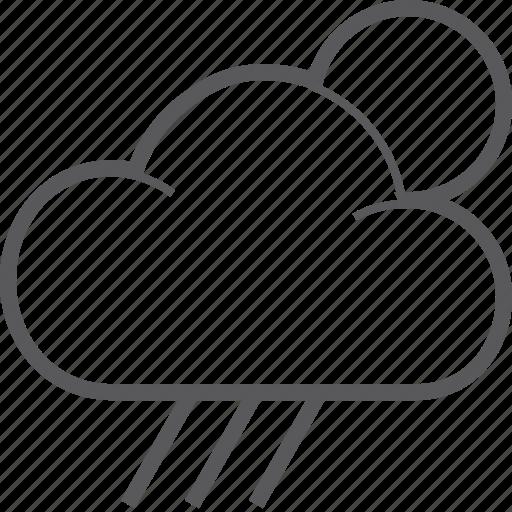 could, rain, sun, weather icon
