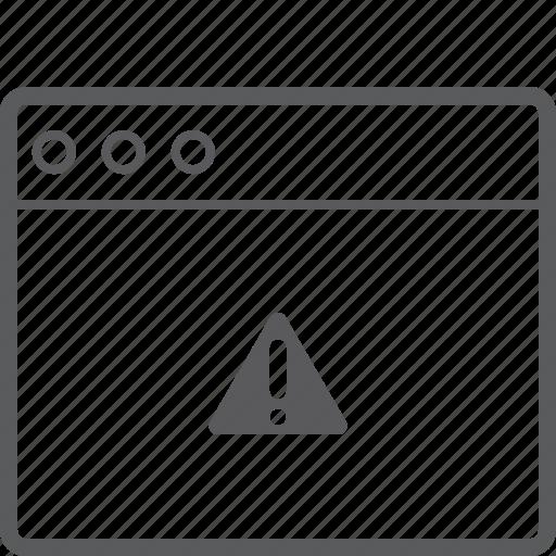 caution, layout, website icon