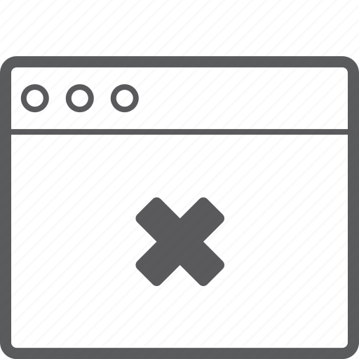 delete, layout, website icon