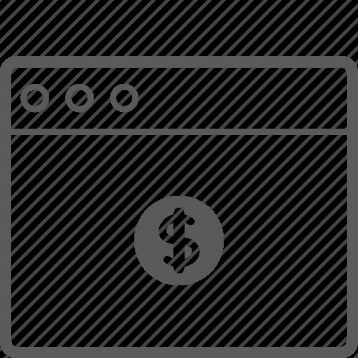 dollar, layout, website icon