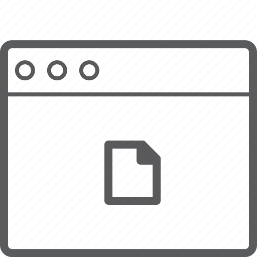 file, layout, website icon