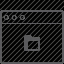 folderr, layout, website icon