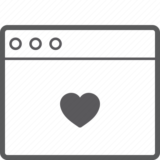 heart, layout, website icon