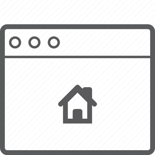 house, layout, website icon