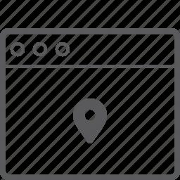 layout, marker, website icon