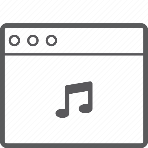 layout, music, website icon