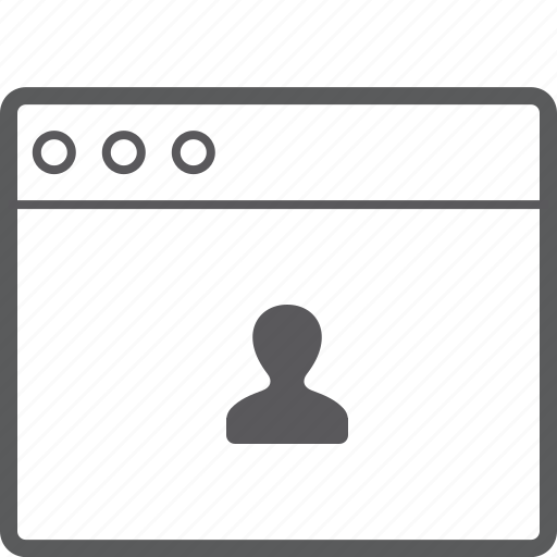 layout, person, website icon