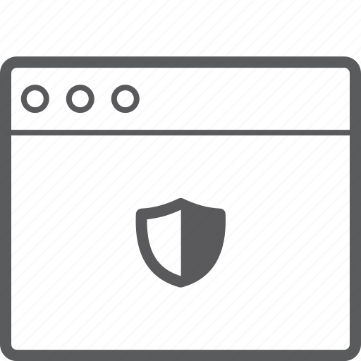 layout, shield, website icon