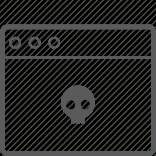 layout, skull, website icon