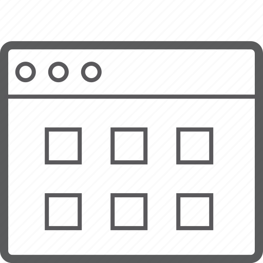 layout, square, website icon