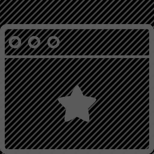 layout, star, website icon