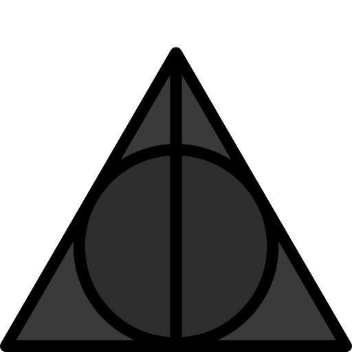 colour, deathly, hallows, harry, potter icon