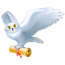animal, bird, fly, harry potter, hedwig, mail, owl icon