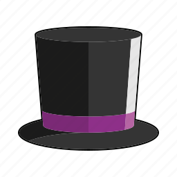clothing, cylinder, fashion, hat, headwear, high hat, top hat icon