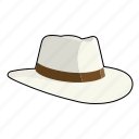 clothing, fashion, fedora, hat, headwear, indented icon