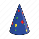 cap, celebration, clothing, hat, magicians hat, paper hat, party hat icon
