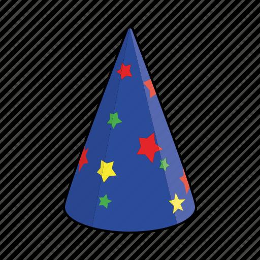 cap, celebration, clothing, hat, magicians hat, paper hat, party hat icon