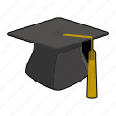 cap, clothing, degree, education, graduation, hat, mortarboard icon