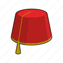 cap, clothing, fez, hat, head wear, moroccan, morocco icon
