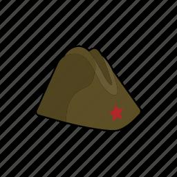 cap, clothing, forage cap, hat, head wear, military, uniform icon