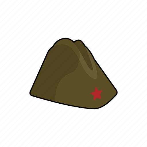 cap, clothing, forage cap, hat, head wear, military, uniform icon