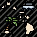 hawaii, location, map, position